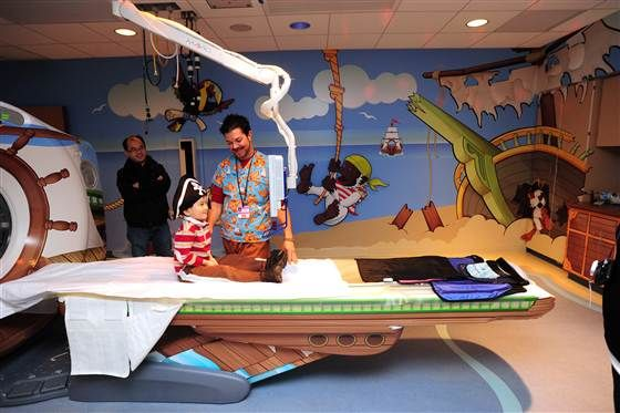 """""""Pirate Island"""" is one of 13 specially themed radiology rooms at the Children's Hospital of Pittsburgh found on todayshow.com"""
