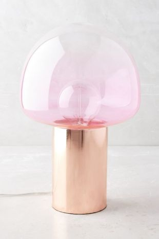 rose gold table lamp found on Anthropologie.com