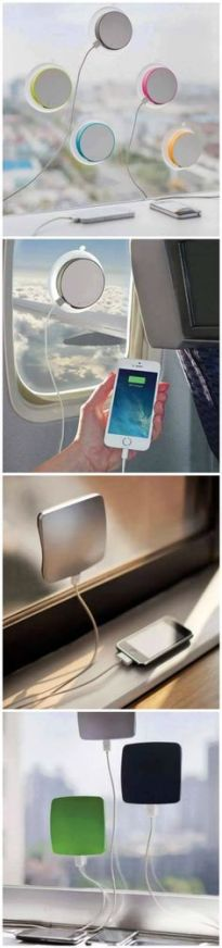 Window Mounted Solar Charger found on plus.google.com